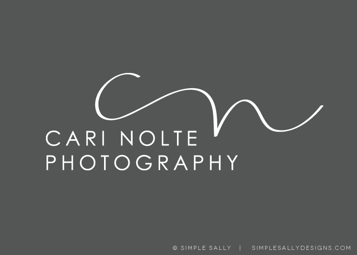 handdrawn initials by SIMPLE SALLY for Cari Nolte