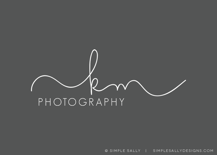 SIMPLE SALLY INITIALS LOGO | Kelli Millsap | #logo #initials #simple #photographers