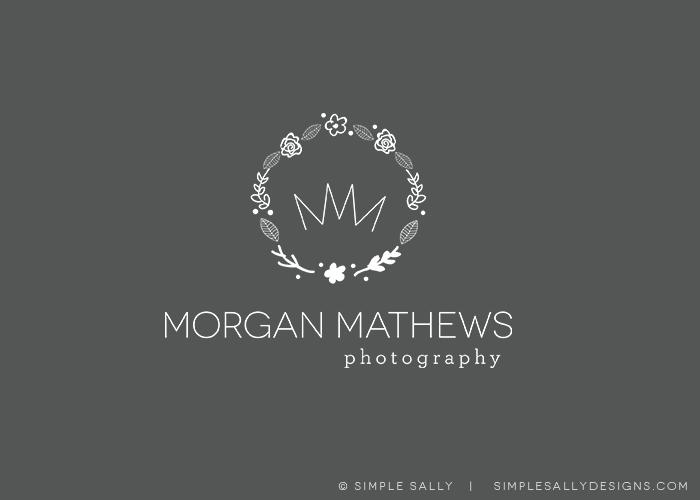 Morgan Mathews Photography | SIMPLE SALLY DESIGNS #simple #logo #simplesally #forphotographers