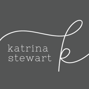 Katrina Stewart initials by SIMPLE SALLY | #initials #handwrittenlogo #forphotographers | www.simplesallydesigns.com