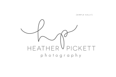 Heather Pickett Photography logo by SIMPLE SALLY