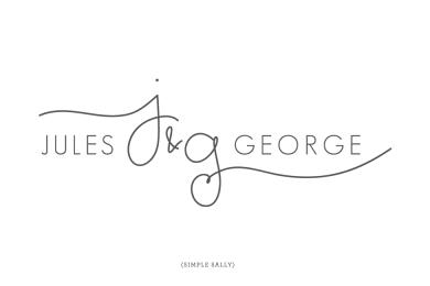 Handwritten Initials logo for Jules & George   SIMPLE SALLY