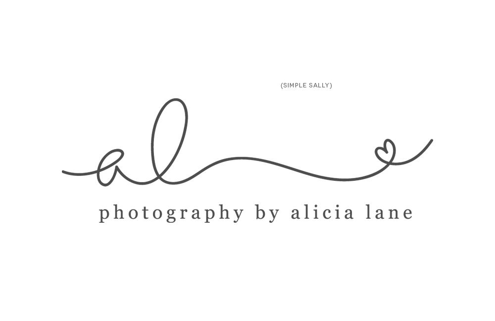 Alicia Lane initials logo by Simple Sally Designs | www.simplesallydesigns.com