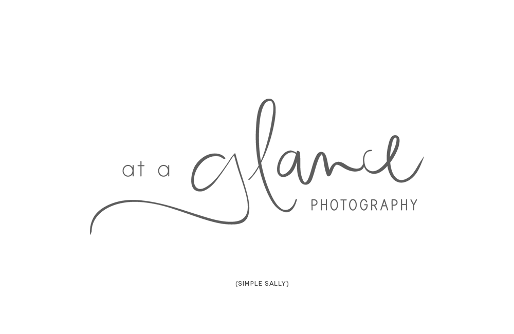 Handwritten Logo Design At A Glance Photography Simple