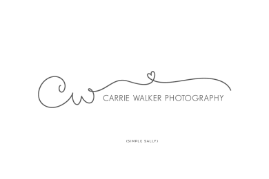 Simple Sally Designs logo for Carrie Walker Photography | www.simplesallydesigns.com