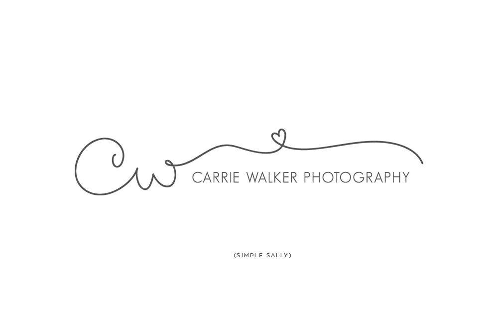 Simplistic Logo Design For Photographers Carrie Walker