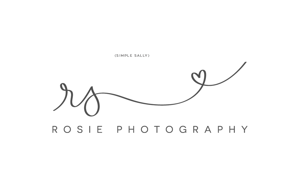 Rosie Photography logo by SIMPLE SALLY DESIGNS