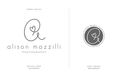 Alison Mazzilli logo design by SIMPLE SALLY