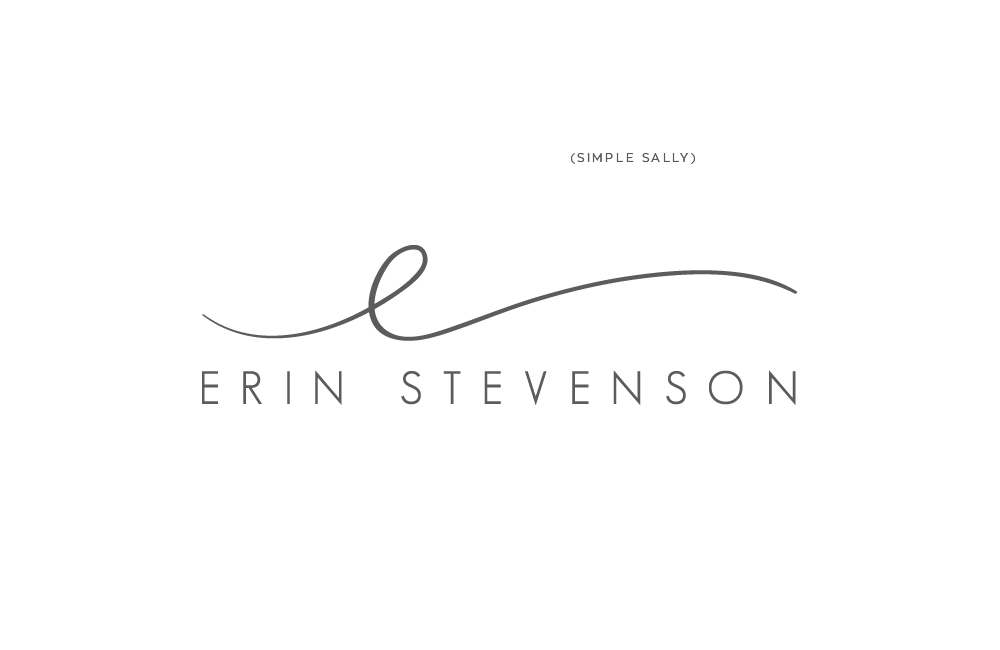Small business logo design : u2018esu2019 for Erin Stevenson ...