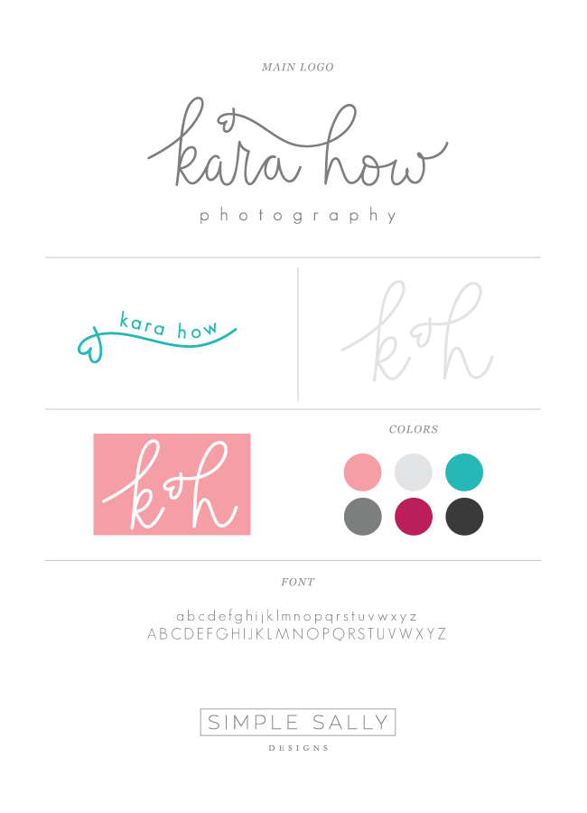 Style Guide for Kara How Photography | simple sally designs | www.simplesallydesigns.com