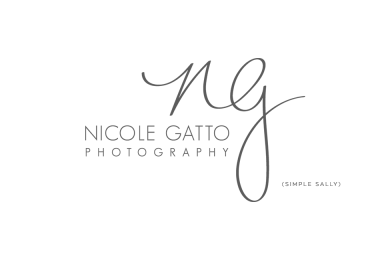 Nicole Gatto handwritten initials logo by SIMPLE SALLY DESIGNS