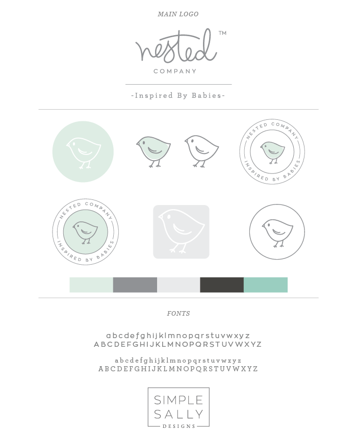 Nested Company Logo Design by Simple Sally Designs | #nestedcompany #simplesally #newborn #photography #logo