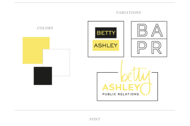 Betty Ashley (Public Relations) Logo / Style Guide by Simple Sally | www.simplesallydesigns.com