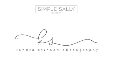 KS initials by SIMPLE SALLY DESIGNS | www.simplesallydesigns.com | #initials #logo #simple