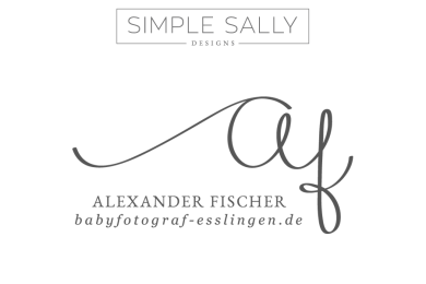 Simple Sally Designs logo for Alexander Fischer | #logo #initials #simplelogo