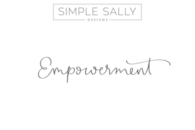 Simple Sally handwritten word