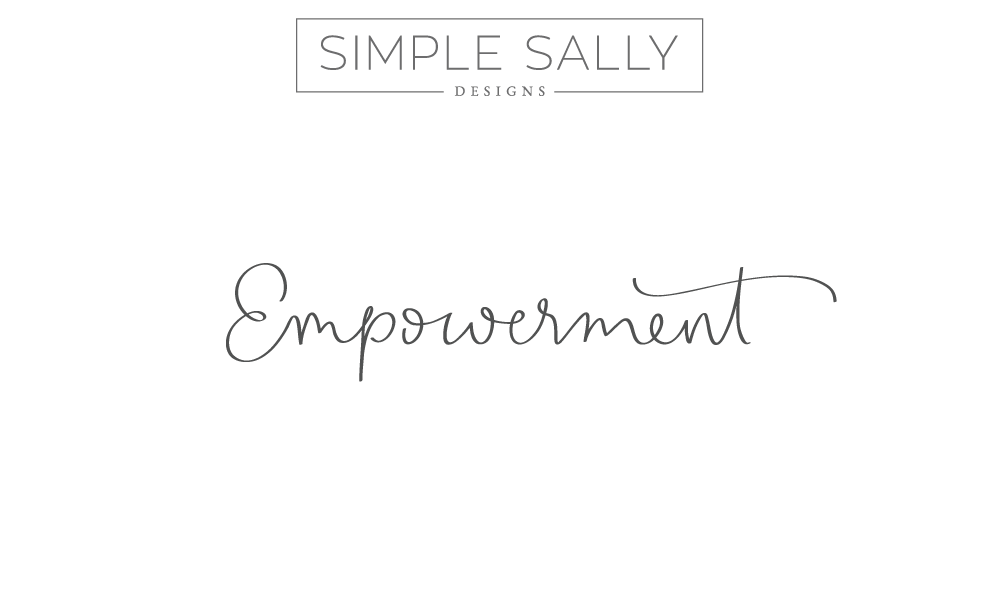 "Simple Sally handwritten word ""Empowerment"" 