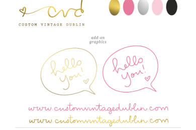 Custom Vintage Dublin style guide by SIMPLE SALLY | #handwrittenlogo #logo #simple #custom