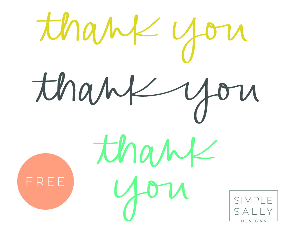 FREE Thank You graphics by SIMPLE SALLY DESIGNS #freebie #thankyou #simplesally