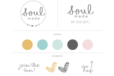 Soulmade Logo Style Guide by Simple Sally Designs | #logo #simplelogo #simplesally