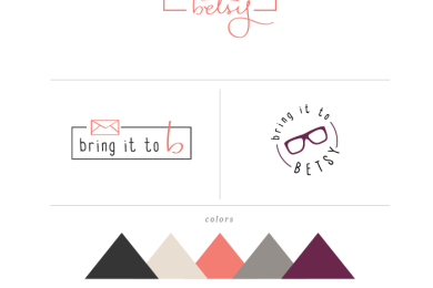 Bring it to Betsy style guide by Simple Sally Designs | #simplesally #logo #customlogo #bringittobetsy