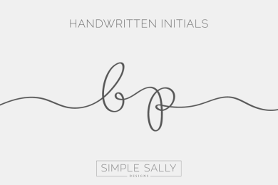 BP handwritten initials by SIMPLE SALLY DESIGNS 2016