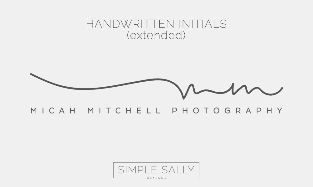 Handwritten Initials Logo  Mm For Micah Mitchell Simple