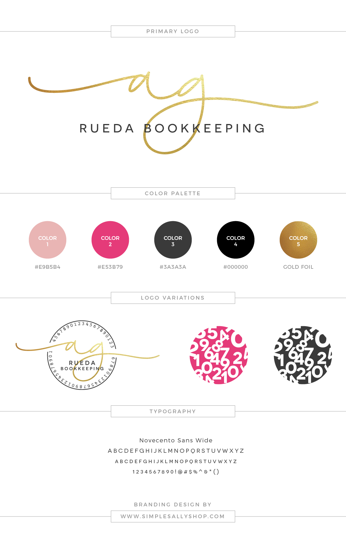 Small Business Logo Design by Simple Sally | #logo #simplelogo #accounting #simplesally