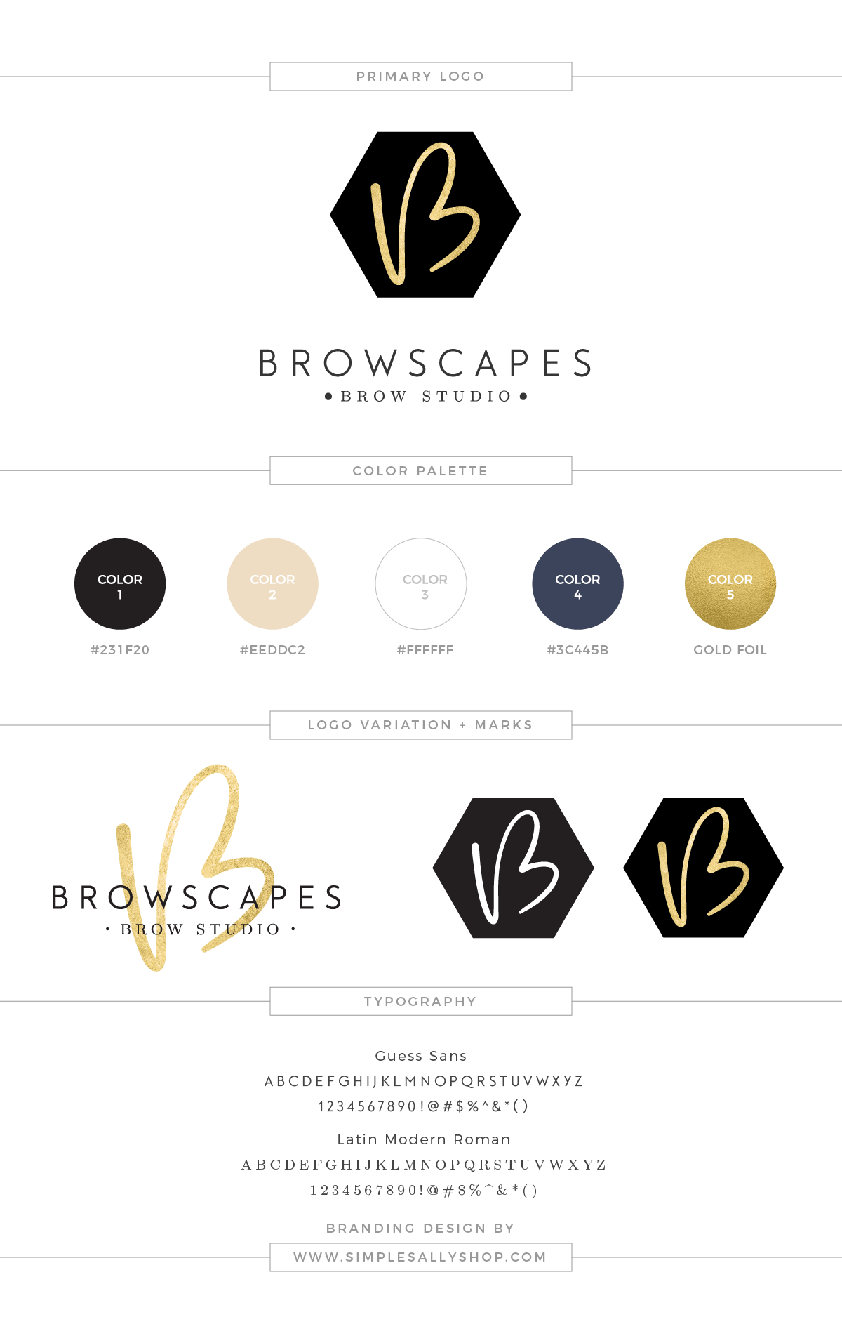 Logo Design by Simple Sally | #brows #simple #logo #simplesally