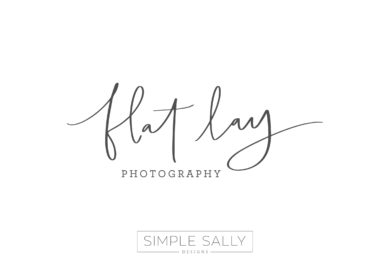 Flat Lay Photography logo by Simple Sally Designs | #handwritten #simple #flatlay