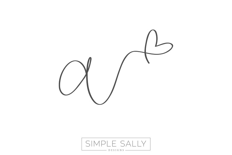 Handwritten tattoo design by Simple Sally | #tattoo #simplesally #initial