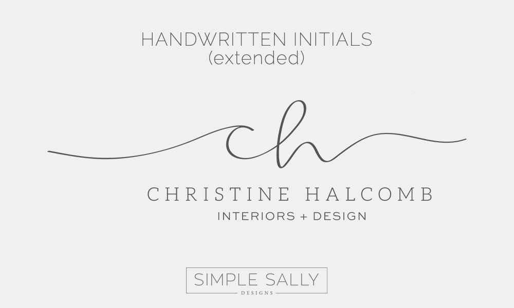 Handwritten Initials by Simple Sally | #initials #handwritten #simple #simplelogo